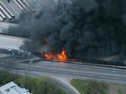 Massive fire collapses Atlanta overpass